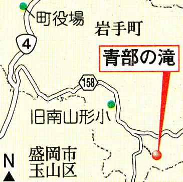 青部の滝MAP
