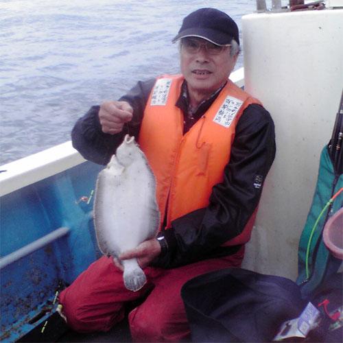 ナメタカレイを釣った釣り人